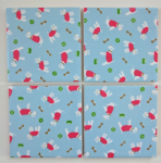 4 Ceramic Coasters in Cath Kidston Stanley Dogs